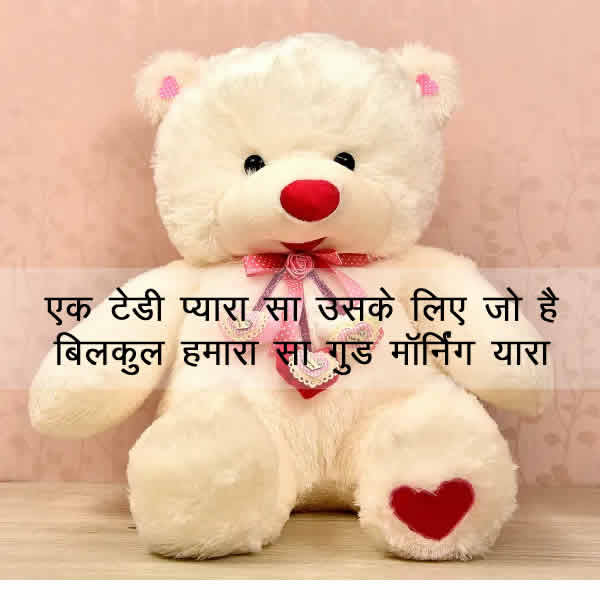 Best-Cute-Teddy-bear-good-morning-images-with-quotes-in-Hindi